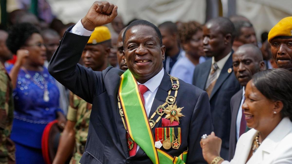 Emmerson Mnangagwa, Zimbabwe's president.