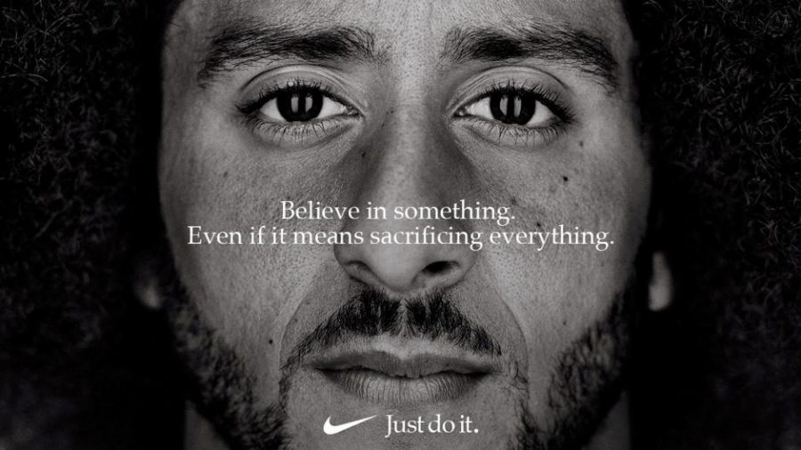 Colin+Kaepernick+appears+as+the+face+of+Nike+Inc+advertisement.