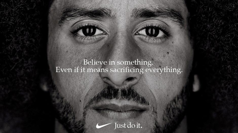 Colin Kaepernick appears as the face of Nike Inc advertisement.