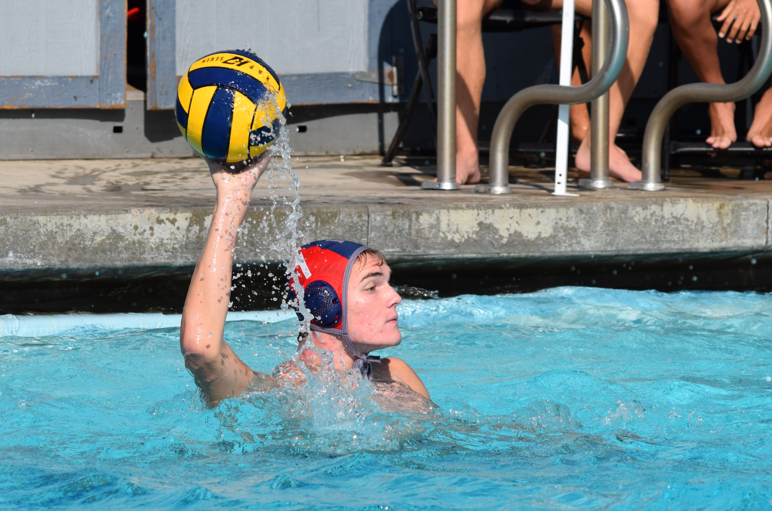 Brookbalnks '19 pushes to the offense against Brentwood.