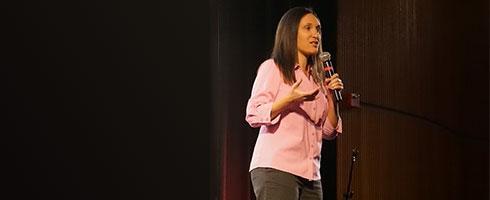Lori Getz speaks about internet safety.