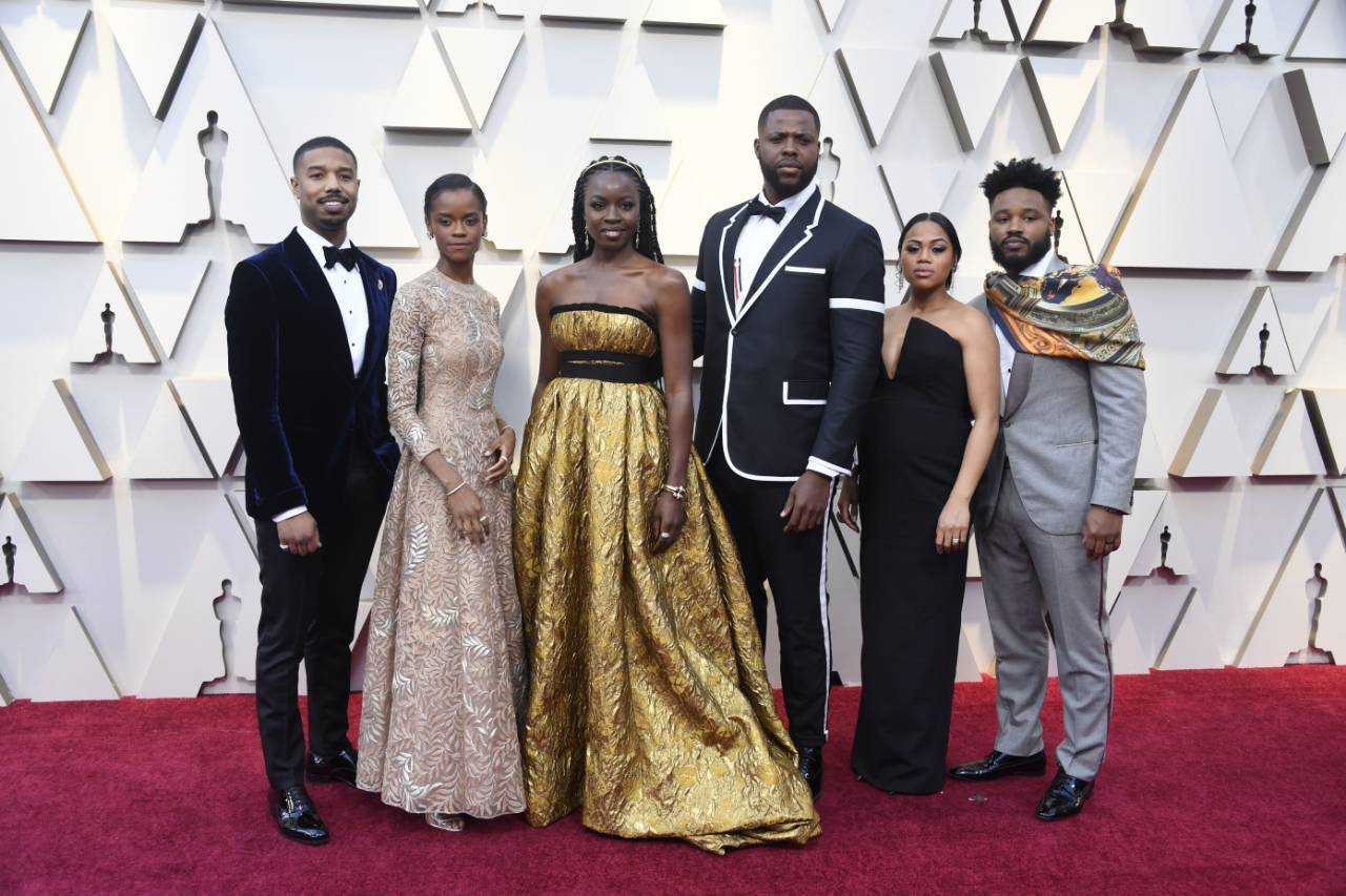 Black Panther cast at the Oscars
