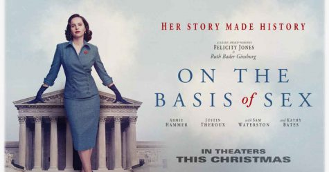 "The promotional material for ""On the Basis of Sex."""