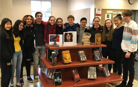 Members of Library Advisory Council Next To Bardugo Display