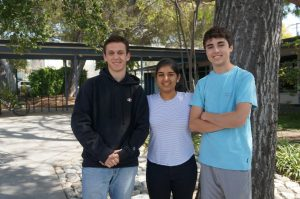 2019-2020 Senate Commissioners. From left to right: Nick Klatsky '20, Maya Khurana '20, and James Dixon '21.