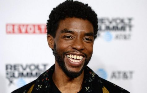 Chadwick Boseman, reportedly full of laughter and love during his lifetime, smiling during a red carpet interview.