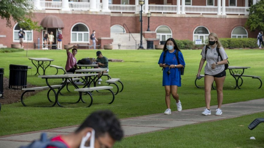 A campus in session during the pandemic.