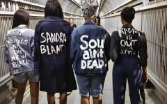 Activists calling out issues of the fashion industry (Photo Courtesy Shayla Janel Hill).