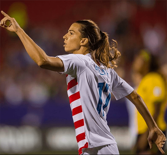 Tobin Heath, pictured above (Image courtesy of girlssoccernetwork.com)