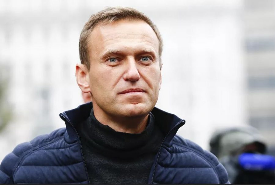 Alexi Navalny attending a rally in support of political prisoners in Prospekt Sakharova Street in Moscow, Russia
