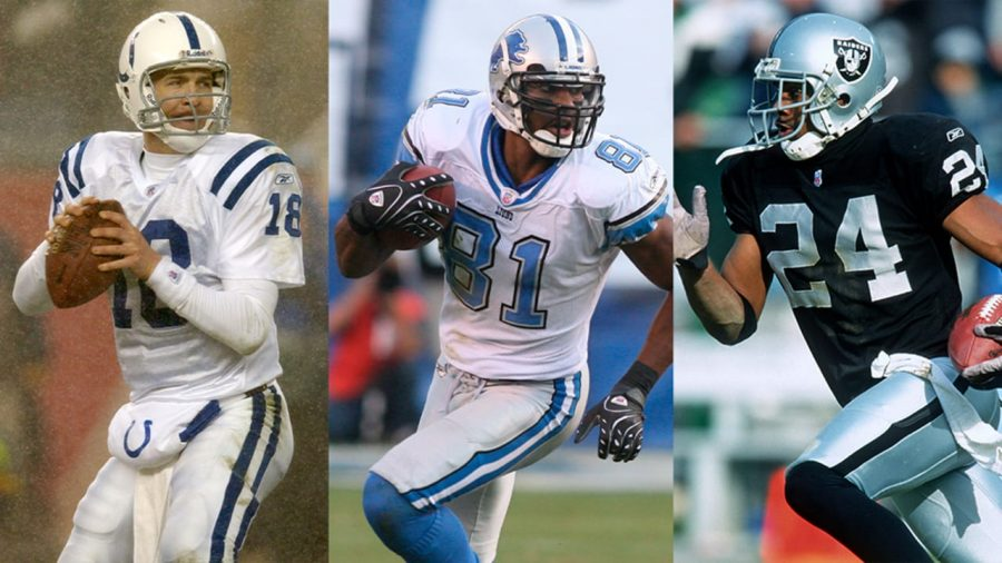 Peyton Manning (left), Calvin Johnson (middle) and Charles Woodson (right) all were elected to the NFL Hall of Fame this year (Image Courtesy of the NFL)